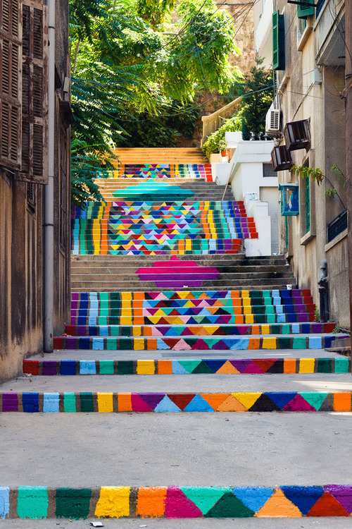 Patterned stairs, Beirut | Lebanon